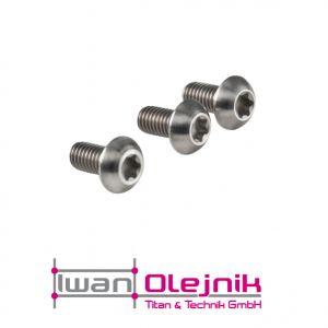 Ti-ISO 7380 Schrauben Set 12St. Torx 3.7165, Grade 5 M5x8